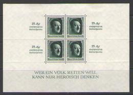 ГЕРМАНИЯ    Michel  БЛОК # 11   1937  MLH OG - Blocks & Kleinbögen