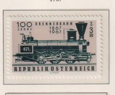 AUSTRIA  -  1967 Brenner Railway 3s50 Never Hinged Mint - 1961-70 Unused Stamps