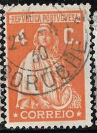 PORTUGAL 4C Ceres -Marcofilia CORUCHE 25C R:3. VFU No Faults - Unclassified