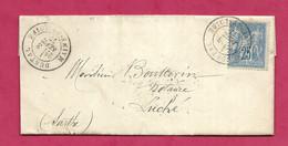 Maine Et Loire-Lettre-Cachet De Durtal Sur N°78-Bureau Passe Au Dos 2188 - 1877-1920: Semi-moderne Periode