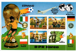 Football Espana 82 Bloc DPRK Korea - Italia Deutschland Poland France - Concorde Air France - Rey Juan Carlos - 1982 – Spain