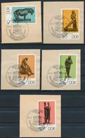 RDA- Sculptures Du Musée De Berlin YT 1817-1821 Obl. / DDR-Bronzeplastiken Staatliche Museen Mi.Nr. 2141-2145 Gest. - Used Stamps