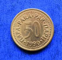 YUGOSLAVIA  50 PARA 1990 VF СФР ЈУГОСЛАВИЈА - Yugoslavia