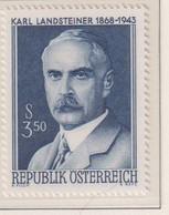 AUSTRIA  -  1968 Landsteiner 3s50 Never Hinged Mint - 1961-70 Unused Stamps