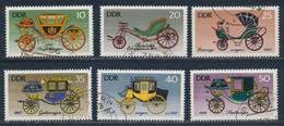 RDA- Calèches Historiques YT 1823-1828 Obl. / DDR-Historische Kutschen Mi.Nr. 2147-2152 Gest. - Used Stamps