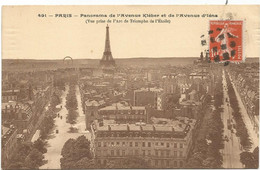 SEMEUSE 10C ANNULATION GRILLE DE PONTS AU RECTO CARTE DE PARIS VOYAGEE SOUS ENVELOPPE - 1877-1920: Semi-moderne Periode