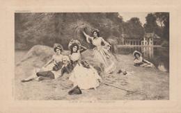 """Illustr. Thomas TRENTT . Scène Champêtre """"Les Foins à Trianon """" (+ Au Dos : Pub Assurances LA CONFIANCE) - Andere Illustrators"""