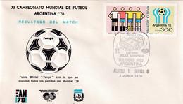 Argentina 1978 Cover: Football Soccer Fussball Calcio: FIFA World Cup Mundial 78  Ball Tango; Group 3: Austria - Sweden - 1978 – Argentina