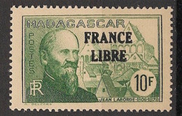 Madagascar - 1942 - N°Yv. 254 - France Libre 10f - Neuf Luxe ** / MNH / Postfrisch - Unused Stamps