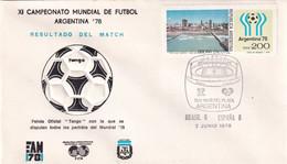 Argentina 1978 Cover: Football Soccer Fussball Calcio: FIFA World Cup Mundial 78 Official Ball Tango; Brasil - Spain - 1978 – Argentina
