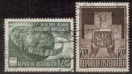 10 Jahre UNO , Michel 1022, Aufnahme Österreich In UNO Michel 1025 - 1945-60 Used
