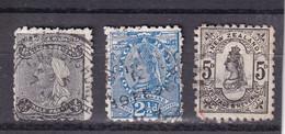 NEW ZEALAND NEUSEELAND 1891  QV Ex 1/2-5d/ Mi 62-64 U/ FU - Used Stamps