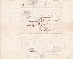 LAC 1843 De Charolles  Pour Dijon - 1801-1848: Voorlopers XIX
