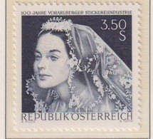 AUSTRIA  -  1968 Vorarlberg Lace 3s50 Never Hinged Mint - 1961-70 Unused Stamps