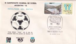 Argentina 1978 Cover: Football Soccer Fussball Calcio: FIFA World Cup Mundial 78 Official Ball Tango; Tunisia - Germany - 1978 – Argentina