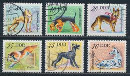 RDA- Chiens De Race YT 1831-1836 Obl. / DDR-Hunderassen Mi.Nr. 2155-2160 Gest. - Used Stamps