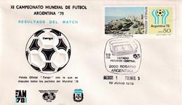 Argentina 1978 Cover: Football Soccer Fussball Calcio: FIFA World Cup Mundial 78 Official Ball Tango; Mexico - Poland - 1978 – Argentina