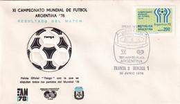 Argentina 1978 Cover: Football Soccer Fussball Calcio: FIFA World Cup Mundial 78 Official Ball Tango; France - Hungary - 1978 – Argentina