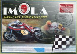 66976 Italia, Special Card Ans Postmark 1999 Imola  Moto Grand Prix - Motorbikes