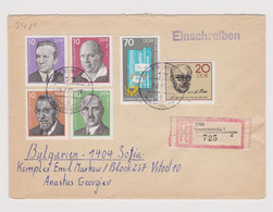 East Germany DDR 1980s Registered Cover Multi Color Stamps To Bulgaria (37032) - Briefe U. Dokumente