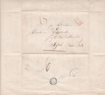LAC 1845 De Paris   Pour Segré Cachet PP Rouge - 1801-1848: Voorlopers XIX