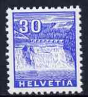 Switzerland 1934 Rhine Falls 30c Blue (from Landscapes Set) U/M, SG 356 - Neufs