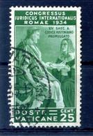 1935 VATICANO N.43 USATO - Oblitérés