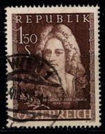 Fischer Von Erlach Michel Nr. 1028, Städtebaukonferenz Michel Nr. 1027 - 1945-60 Used