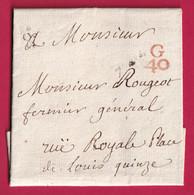PARIS PETITE POSTE REMISE AU FACTEUR G40 EN ROUGE QUANTIEME 8 1881 - 1701-1800: Voorlopers XVIII