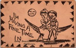 California Long Beach Couple In Hammock I'm Having A Fine Time - Long Beach