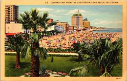 California Long Beach Looking East From The Auditorium 1939 Curteich - Long Beach