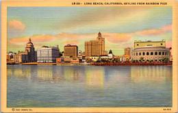 California Long Beach Skyline From Rainbow Pier Curteich - Long Beach