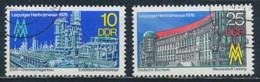 RDA- Foire D'automne 1976 De Leipzig YT 1837-1838 Obl. / DDR-Leipziger Herbstmesse Mi.Nr. 2161-2162 Gest. - Used Stamps