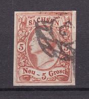 Sachsen - 1856/63 - Michel Nr. 12 - Gestempelt - 100 Euro - Saxony