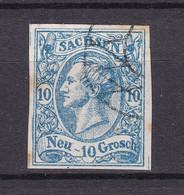 Sachsen - 1856/63 - Michel Nr. 13 GA - Gestempelt - Saxony