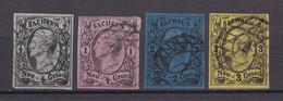 Sachsen - 1855/63 - Michel Nr. 8/11 - Gestempelt - 65 Euro - Saxony