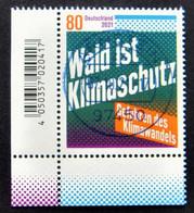 """Bund/BRD Oktober 2021 Sondermarke """"Wald Ist Klimaschutz"""" MiNr 3634, Ecke 3, Ersttagsgestempelt - Usati"""