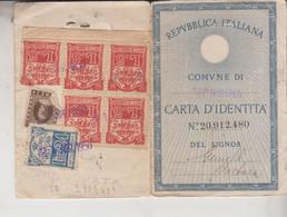 FISCALI MARCHE DA BOLLO CARTA D' IDENTITA' MESSINA  1950 + FOTOGRAFIA - Fiscale Zegels