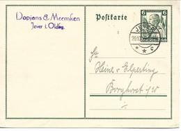 Postkarte Used Jever 1935  Germany.    H-1751 - Postwaardestukken