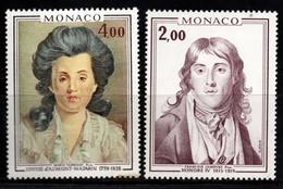 S007F - MONACO, 1976 - SC#: 1035-1036 - MNH - PRINCES HONORE IV AND LOUISE D'AUMONT-MAZARIN - Neufs