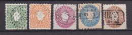 Sachsen - 1863/67 - Michel Nr. 14/18 - Gestempelt - 80 Euro - Saxony