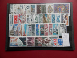 FRANCE ANNEE COMPLETE 1966 SOIT 43 TIMBRES NEUFS SANS CHARNIERE NI TRACE 1ER CHOIX - 1960-1969