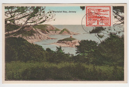 Jersey 1944 1d Blampied Pictorial On Maxicard Dated 15.NO.44 - Jersey