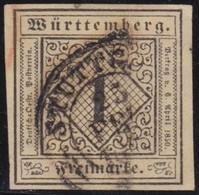 Wurttemberg     .    Michel     .   1  (2 Scans)       .   O        .     Gestempelt - Wurttemberg