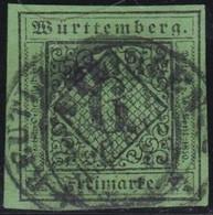 Wurttemberg     .    Michel     .    3       .   O        .     Gestempelt - Wurttemberg