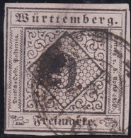 Wurttemberg     .    Michel     .    4       .   O        .     Gestempelt - Wurttemberg