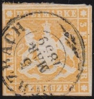 Wurttemberg     .    Michel     .    7      .   O        .     Gestempelt - Wurttemberg