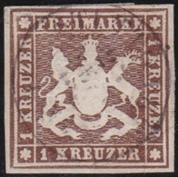 Wurttemberg     .    Michel     .    11   (2 Scans)        .   O        .     Gestempelt - Wurttemberg
