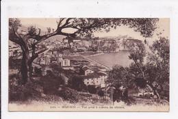 CP MONACO Vue Prise à Travers Les Oliviers (chocolaterie De Monaco Biscuiterie Delta) - Panoramic Views