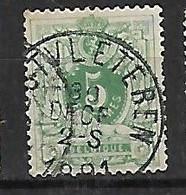 OCB Nr 45 Lion Leeuw Centrale Stempel Oostvleteren - 1869-1888 Lion Couché